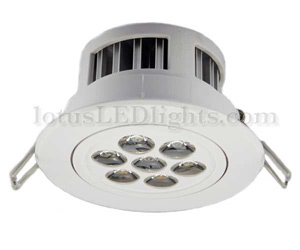 LED Downlights with Adjustable Beam