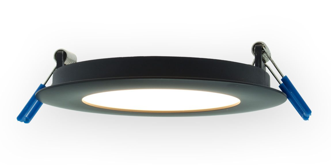 super thin led recessed lighting fixture white trim. Black Bedroom Furniture Sets. Home Design Ideas