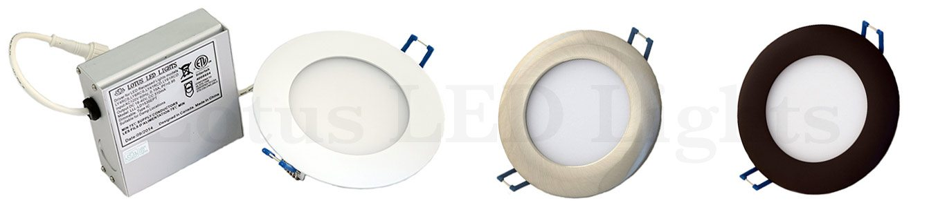 Super Thin Recessed Led Lighting Fixture 4 Inch 9w