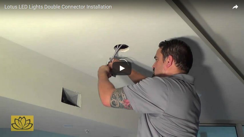 click here to open Double Connector Installation using Lotus LED connection box video