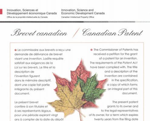 Lotus Gimbals Canadian Patent