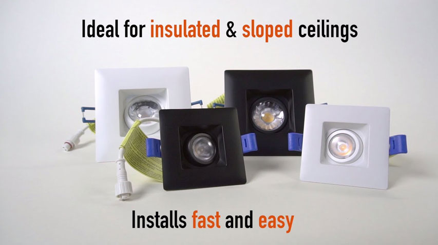 click here to watch this video and discover our Square Gimbal Regressed LED Lights