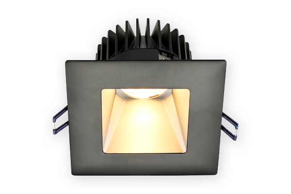 square deep regressed led lights