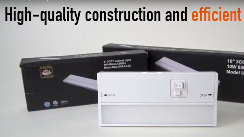 click here to watch this video and discover our Under Cabinet Strip LED Lighting